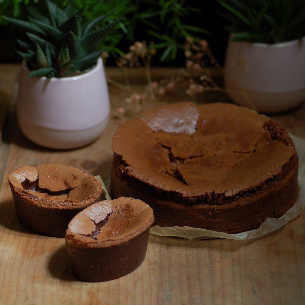 Fondant chocolat caramel, atelier vagabond, patisserie, traiteur, artisan, Bordeaux, food, champignons, Eléonore Christien.